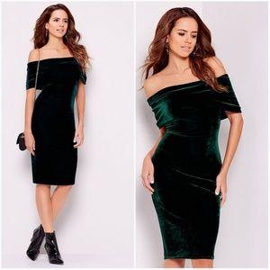 Gianni Bini   Bell Off the Shoulder Velvet Dress
